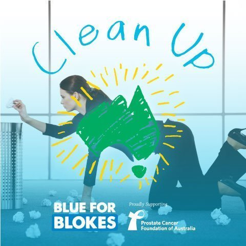 blue for blokes clean up day